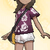 Alola-Shirt Dunkles Rosa weiblich USUM.png