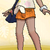 Shorts Sattes Orange weiblich SoMo.png